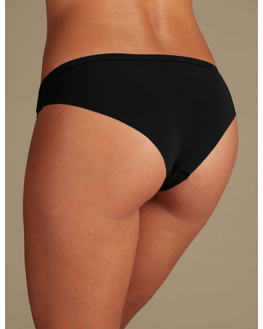 9b7953d4242f ... Lyst Marks & Spencer - Black Olivia Embroidered Brazilian Knickers ...