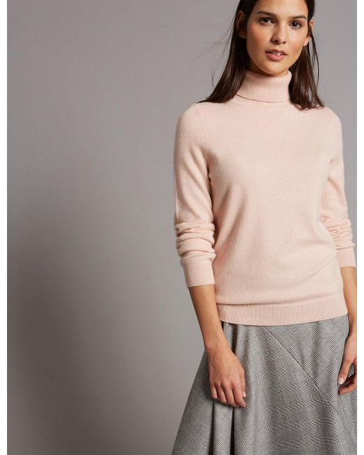 Marks & Spencer - Multicolor Pure Cashmere Roll Neck Jumper - Lyst