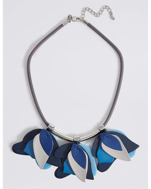 Marks & Spencer | Blue Multi Petal Collar Necklace | Lyst