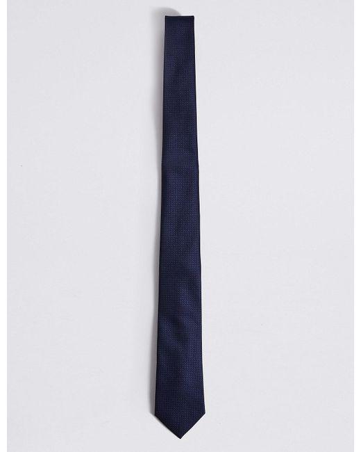 Marks & Spencer - Blue Textured Tie for Men - Lyst