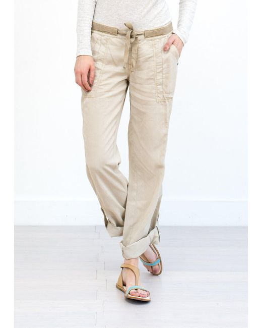 Marrakech | Natural Charlotte Roll Tab Beach Pant | Lyst