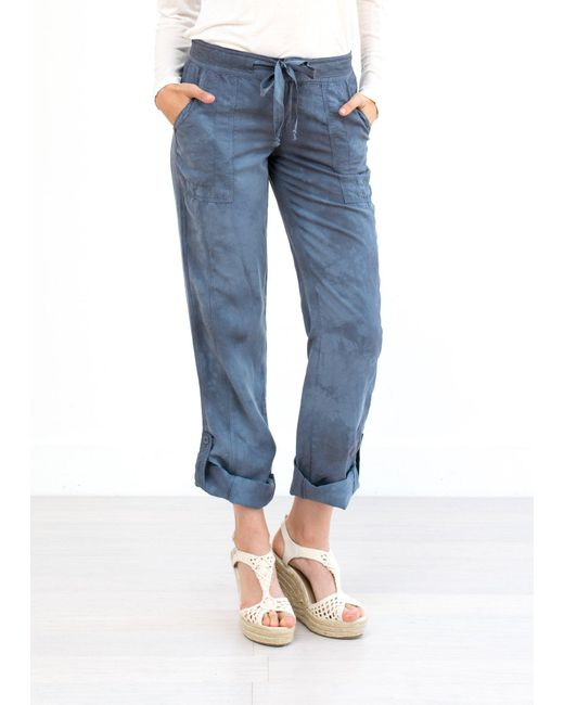 Marrakech | Blue Charlotte Roll Tab Beach Pant | Lyst