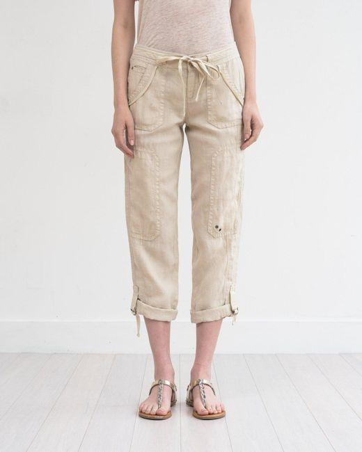 Marrakech | Natural Ali Roll-up Linen Utility Pant | Lyst