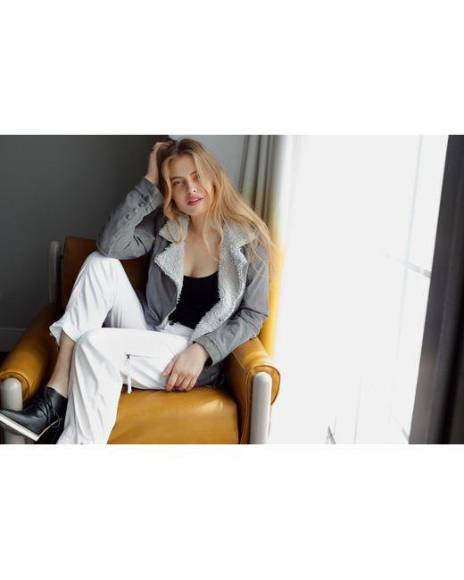 Marrakech   Gray Abby Shearling Jacket   Lyst
