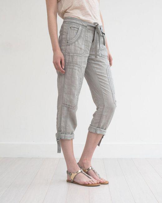 Marrakech | Gray Ali Roll-up Linen Utility Pant | Lyst