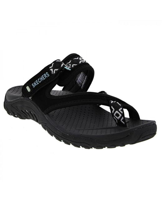 29e30b45879975 ... Skechers - Black Reggae Trailway Slip On Walking Sandals - Lyst ...