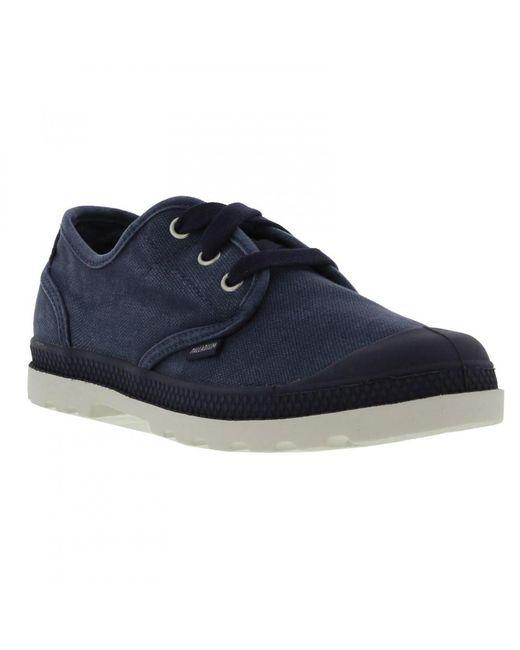 Palladium - Blue Pampa Ox Lp Canvas Combat Shoes Trainers - Lyst
