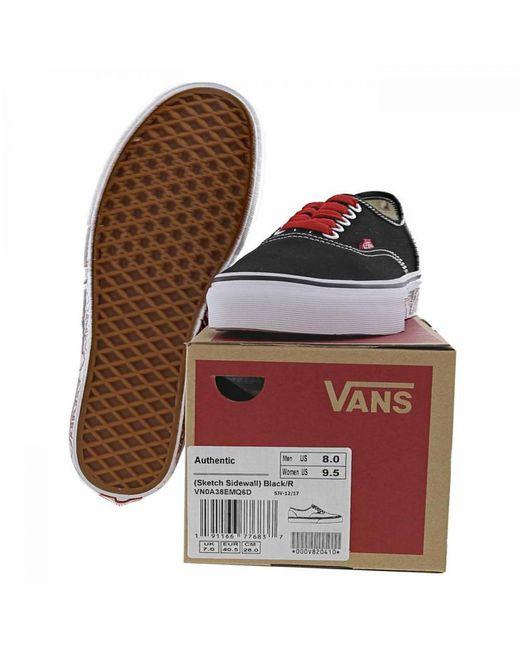 53fd4d18495e ... Vans - Black Classic Authentic Sketch Skate Shoes Trainers for Men -  Lyst ...