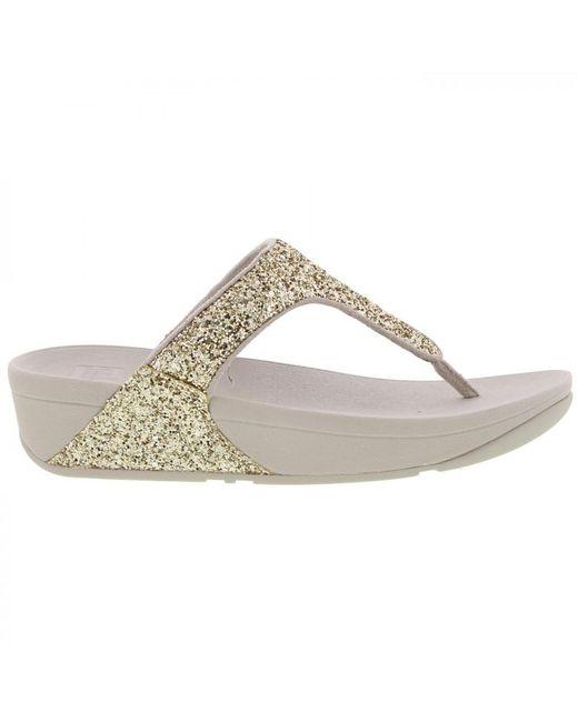 bb051386861 ... Fitflop - Metallic Glitterball Toe Post Flip Flop Sandals - Lyst ...