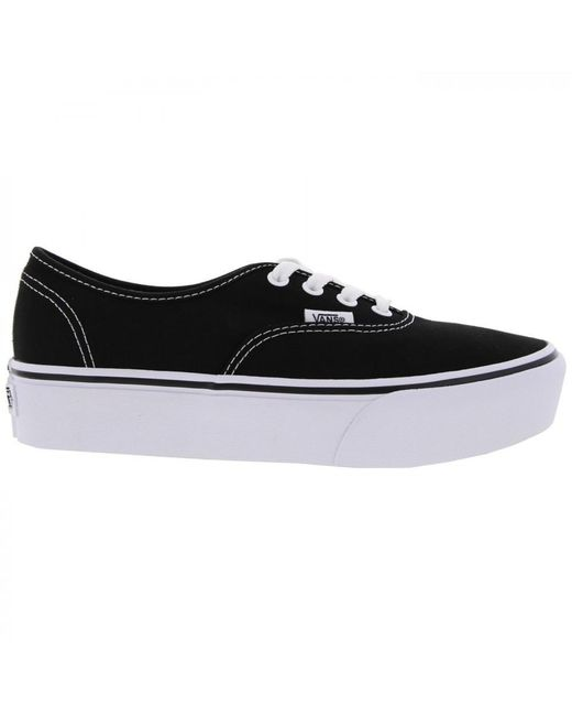 ae7ed9a2bf Vans Authentic Chunky Platform 2.0 Trainers Shoes in Black - Save 70 ...