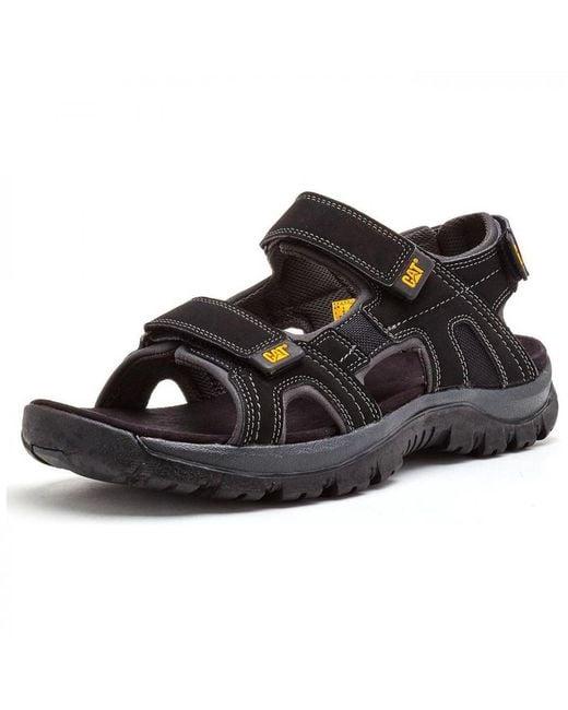 d9e691a6de6b1 ... Caterpillar - Black Cat Giles Wide Fit Adjustable Leather Sports Walking  Sandals for Men - Lyst ...