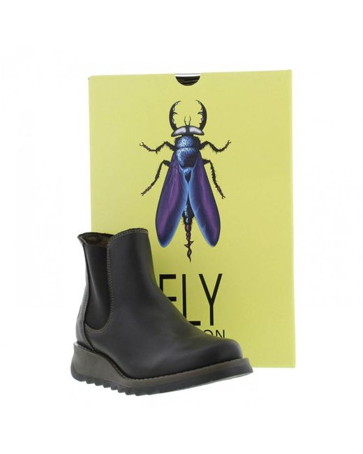 Fly London - Salv Women's Low Ankle Boots In Black - Lyst