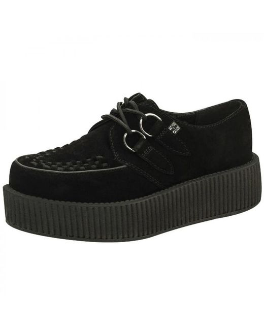 T.U.K. - Black Viva Mondo Creeper Chunky Platform Leather Shoes - Lyst