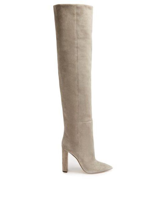 Tanger over-the-knee suede boots Saint Laurent
