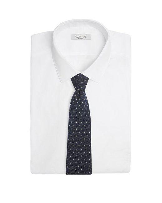Chevron- Brodé Cravate En Coton Tricoté Brunello Cucinelli btZFlT