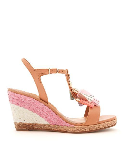 Sophia Webster | Multicolor Lucita Tassel-embellished Leather Wedge Sandals | Lyst