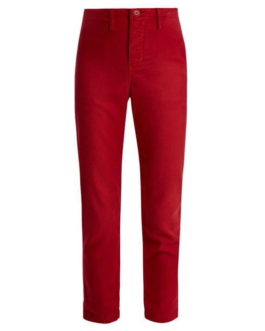 The Great - Red The Carpenter Low-slung Trousers - Lyst
