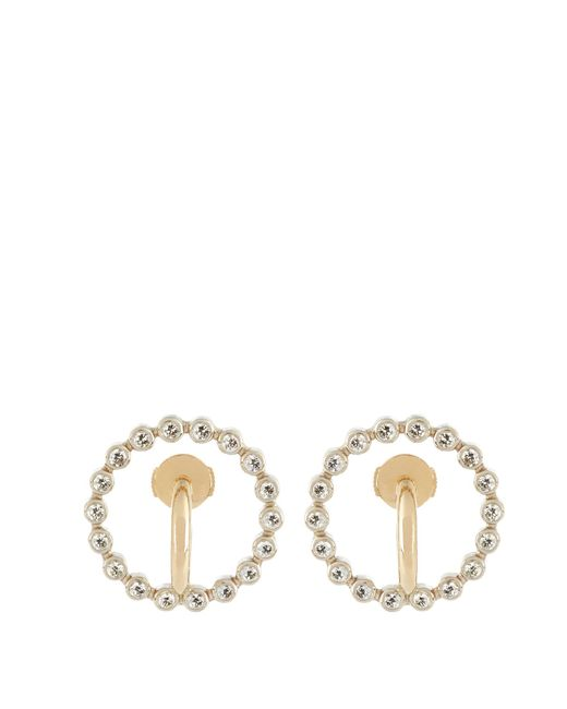 Charlotte Chesnais | Metallic Saturn Small Diamond & Yellow-gold Earrings | Lyst