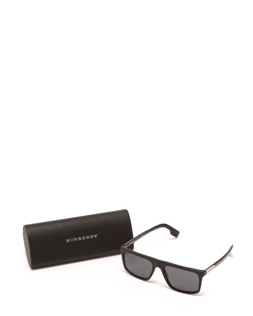4343d94daad3 ... Burberry - Black Penford Square Frame Straight Brow Sunglasses for Men  - Lyst ...