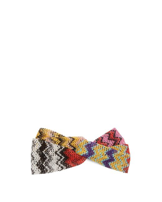 Missoni - Multicolor Zigzag Knitted Headband - Lyst