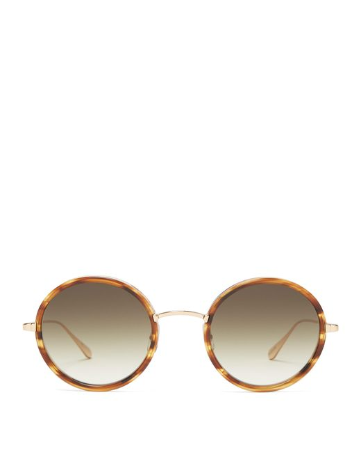 Garrett Leight - Green Playa 48 Round Frame Sunglasses - Lyst