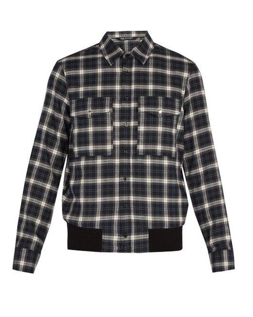 Neil Barrett - Gray Checked Cotton Shirt for Men - Lyst