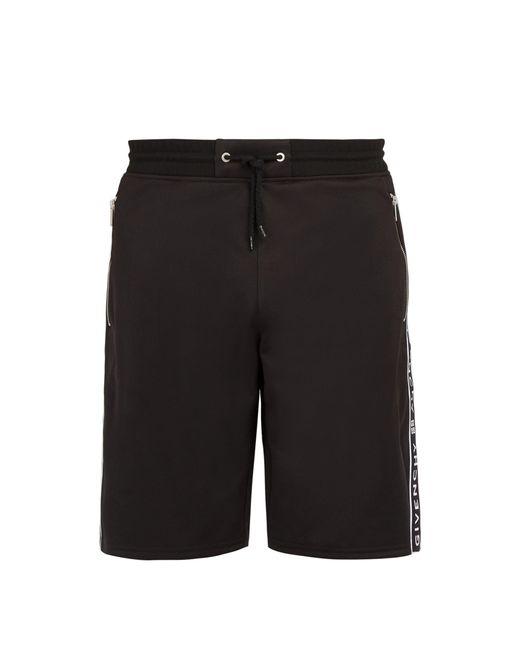 Givenchy - Black Short en jersey technique à bande logo for Men - Lyst
