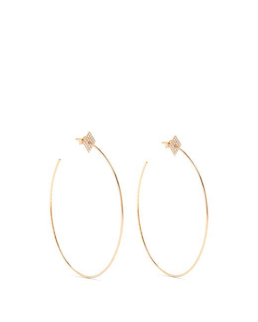 Diane Kordas | Metallic Diamond & Rose-gold Earrings | Lyst