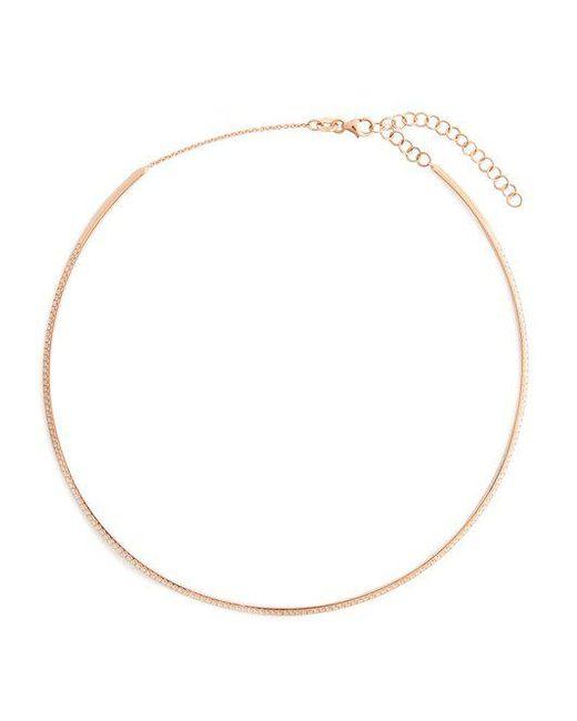 Diane Kordas - Metallic Diamond & Rose-gold Bar Choker - Lyst