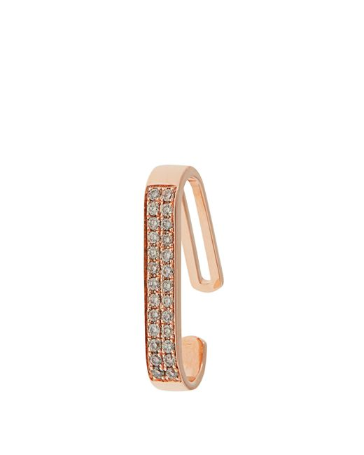 Anissa Kermiche | Multicolor Diamond & Rose-gold Ear Cuff | Lyst