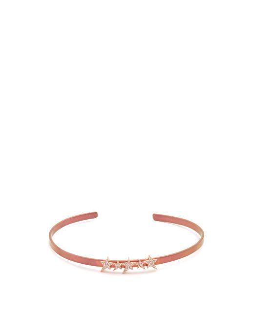 Diane Kordas Pink Diamond, Rose Gold & Titanium Cosmos Star Cuff