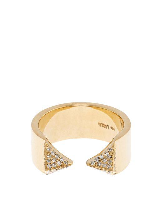 Ileana Makri | Metallic White-diamond & Yellow-gold Pyramid Ring | Lyst
