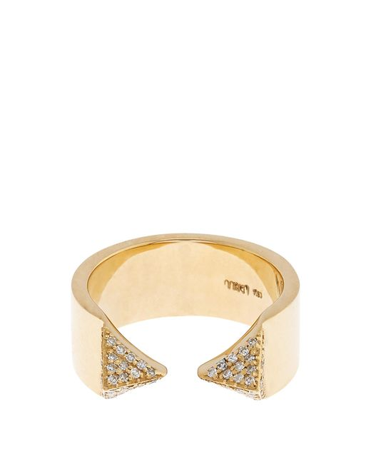 Ileana Makri | Metallic White-diamond & Yellow-gold Pyramid Ring | Lyst