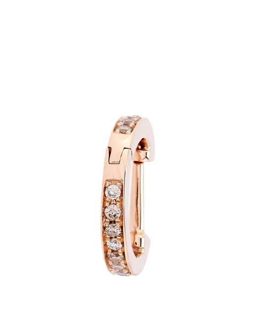 Elise Dray   Metallic Diamond & Pink-gold Mini Hoop Earring   Lyst