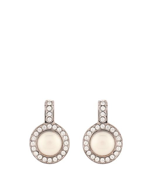 Balenciaga | White Faux-pearl And Crystal Earrings | Lyst
