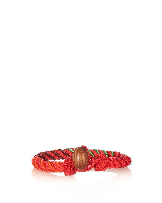 Aurelie Bidermann   Red Maya Bead-embellished Bracelet   Lyst