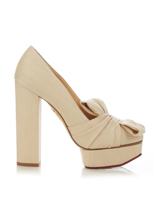 Charlotte Olympia | Natural Miriam Platform Pumps | Lyst