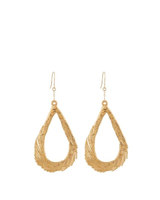 Aurelie Bidermann | Swan Feather Yellow-gold Earrings | Lyst