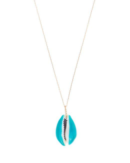 Aurelie Bidermann | Blue Merco Shell & Yellow-gold Necklace | Lyst
