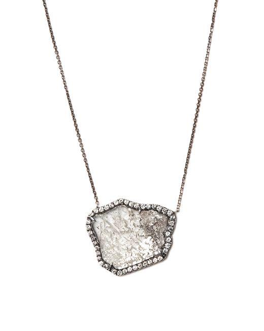 Susan Foster | Black Diamond Slice & White-gold Necklace | Lyst