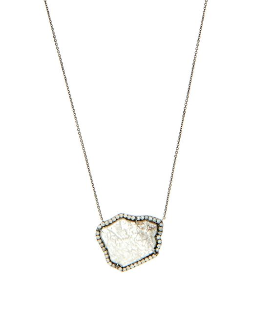 Susan Foster | Diamond Slice & White-gold Necklace | Lyst