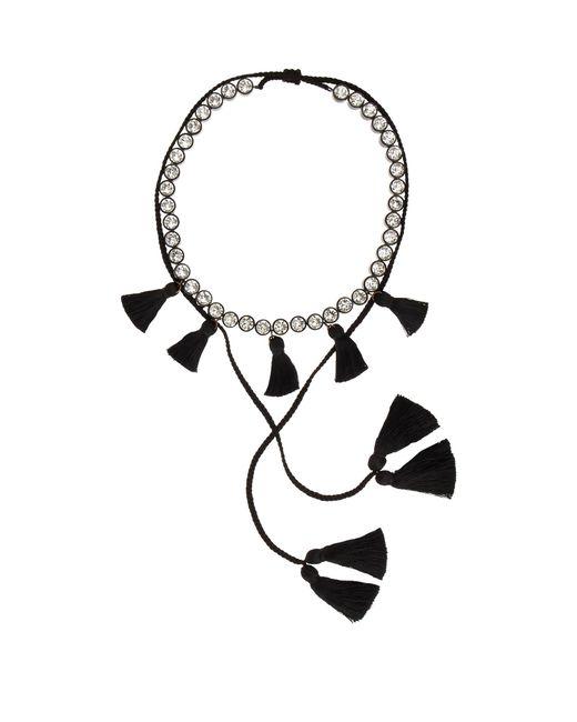 Shourouk | Black Line Pompom Necklace | Lyst