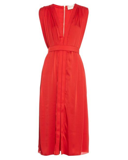 Maison Rabih Kayrouz | Red V-neck Crepe Dress | Lyst