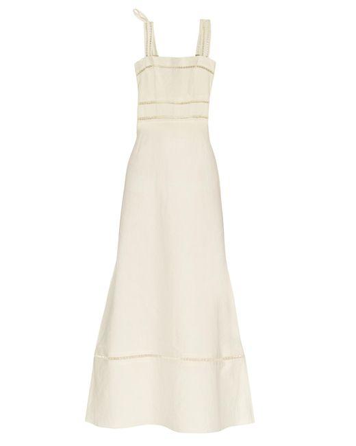 Isabel Marant   Natural Regin Cotton and Linen-Blend Dress   Lyst