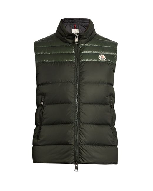 Moncler | Green Dupress Quilted Down Gilet for Men | Lyst