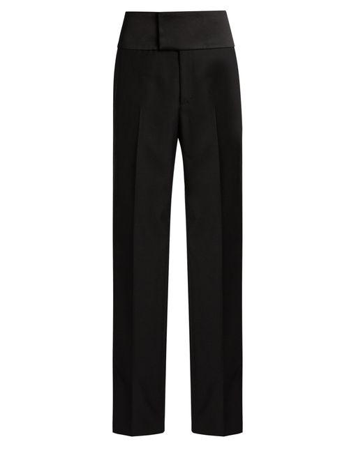 Balenciaga | Black Bachette Crepe Tuxedo Trousers | Lyst