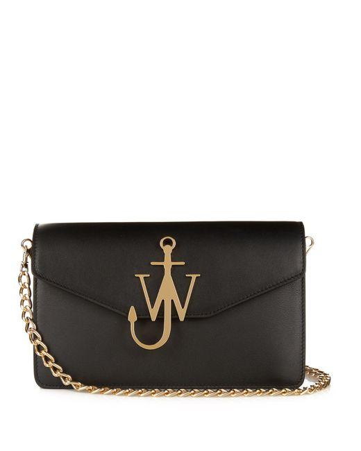 J.W.Anderson | Black Monogram Leather Shoulder Bag | Lyst