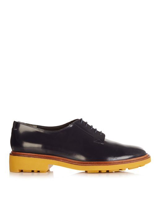 Robert Clergerie | Multicolor Jonk Polished-leather Lace-up Shoes | Lyst
