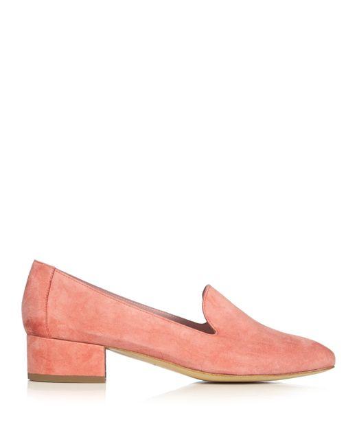 Mansur Gavriel | Pink Venetian Suede Loafers | Lyst