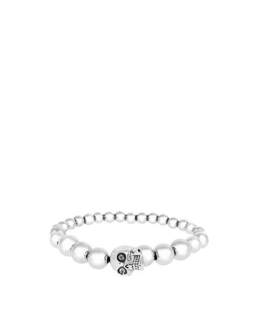 Alexander McQueen | Metallic Skull Beaded Bracelet for Men | Lyst